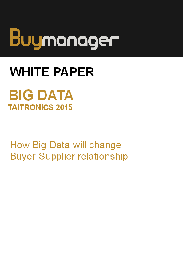 Buymanager white paper Big Data SRM