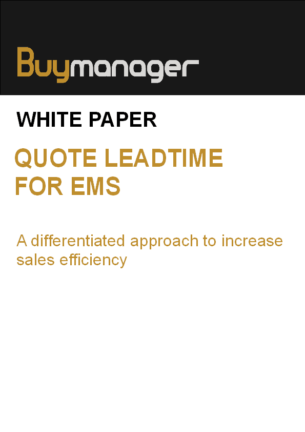 Buymanager white paper EMS quote bom leadtime