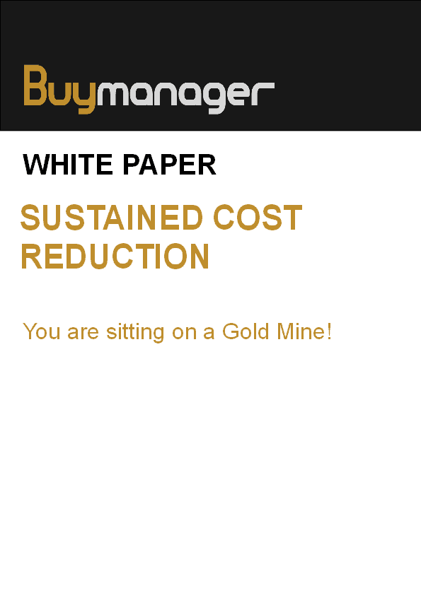 Buymanager white paper cost reduction